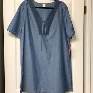 Merona chambray blue cover up or dress